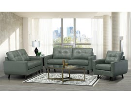 SBF Upholstery 3Pc Fresno Collection Leather Match Sofa Set in Slate 5543