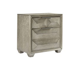 Global Furniture Usa Silver Soho Nightstand