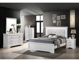 Amalfi Sophie Series 6-Piece Queen Bedroom Set in White BR2050W