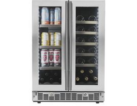 "Silhouette Lorraine Series 24"" French Door Beverage Center in Stainless Steel SPRBC047D1SS"