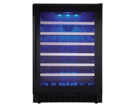 Silhouette 24 inch 5.6 cu.ft single zone wine cellar in black SSWC056D1B
