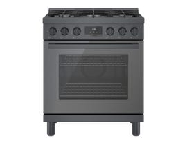 Bosch 30 Inch Industrial Style Gas Range in Black Stainless Steel HGS8045UC
