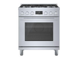 Bosch 800 Series 30 inch 3.7 cu. ft. Industrial Style Gas Range in Stainless Steel HGS8055UC
