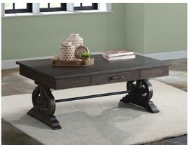 High Society Stone Series Coffee Table w/Drawer in Smokey Dark Ash TST100