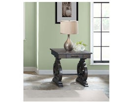 High Society Stone Series End Table in Smokey Dark Ash TST100