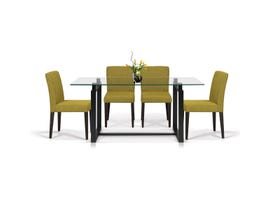 Enzo Studio Design Hopper Collection 5 Piece Dinette with Citron Chairs in Espresso