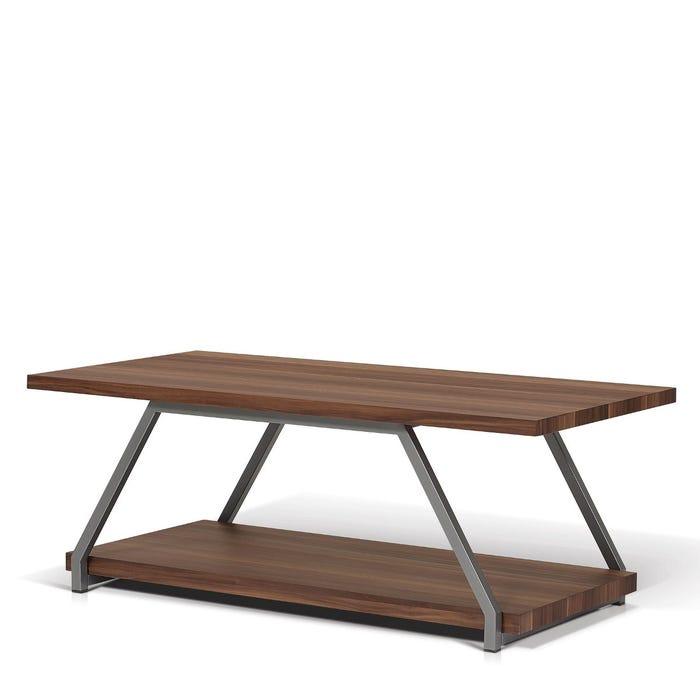 Enzo Studio Design faux wood rectangular coffee table in medium brown SYT1616