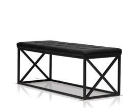 Enzo Studio Design Fabric Foam Bench in Black SYY123603