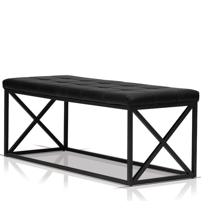 Enzo Studio Design Fabric Foam Bench in Black SYY123603