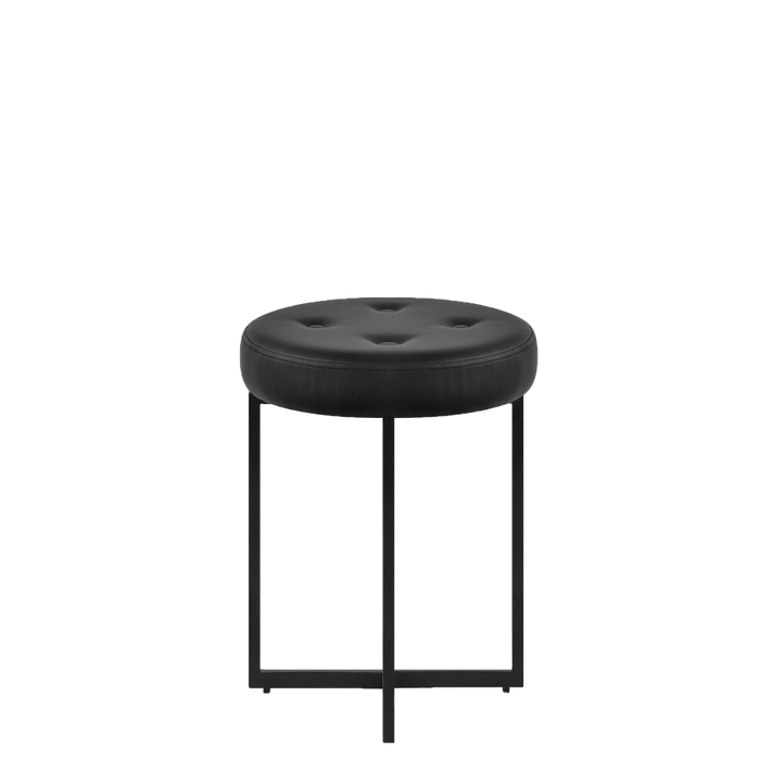 Enzo Studio Design Faux Leather Foot Stool in Black SYY155103