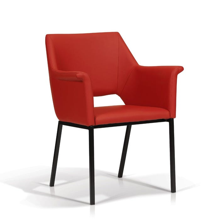 Enzo Studio Design Ariane Collection faux leather arm chair in red SYY170205