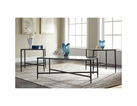 Signature Design by Ashley Augeron Series 3 piece Occasional Table Set in black T003-13