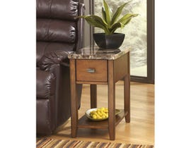 Signature Design by Ashley Breegin faux marble wood End Table in brown T007-158