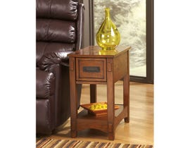 Signature Design by Ashley Breegin wood End Table in brown T007-319