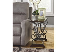 Ashley Signature Design Braunsen metal and cherry top End Table T017-329