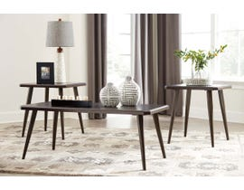 Signature Design by Ashley Fazani Series Occasional Table Set in Dark Brown T037-13