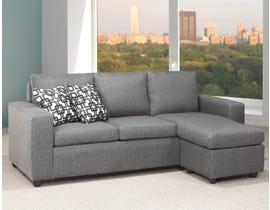 Titus Furniture Reversible Linen Sofa Sectional in Grey T1230
