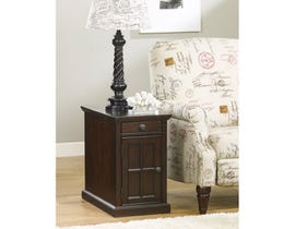 Signature Design by Ashley Laflorn wood storage End Table in dark brown T127-668
