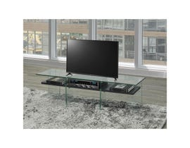 Brassex 55-inch TV STAND with tempered glass in espresso brown T1273-GR