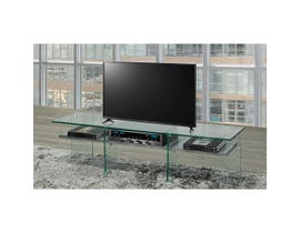 Brassex 55-inch TV STAND with tempered glass in light grey T1273-CME