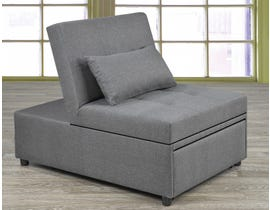 Titus Furniture Transformable Ottoman/Chair/Bed in Grey Linen T1800