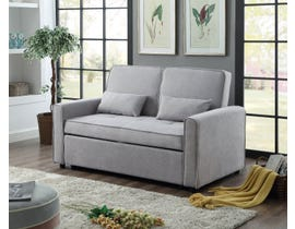 Titus Furniture Sofa Sleeper with Deep Cushioning in Grey Velvet T1850
