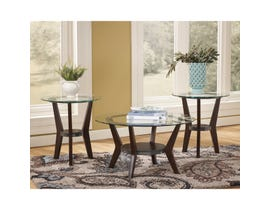 Signature Design by Ashley Fantell Series 3 piece Occasional Table Set in Dark Brown T210-13
