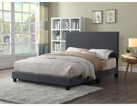 Titus Furniture Tufted Bed in Grey T2110G