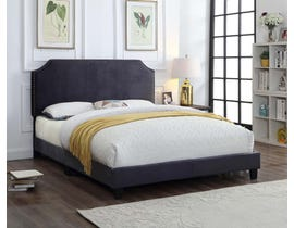 Titus Furniture Upholstered Bed in Charcoal T2116C