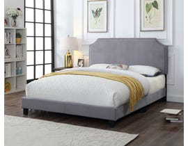 Titus Furniture Upholstered Bed in Grey T2116G