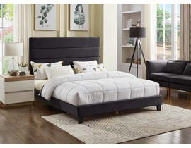 Titus Furniture Linen Upholstered Bed in Charcoal T2119C