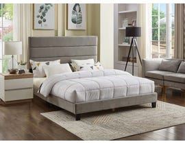 Titus Furniture Linen Upholstered Bed in Grey T2119G