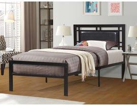 Titus Furniture Metal Frame Twin Bed in Black T2201B-S