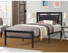 Titus Furniture Metal Frame Bed in Black T2201B