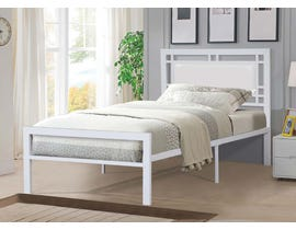 Titus Furniture Metal Frame Twin Bed in White T2201W-S