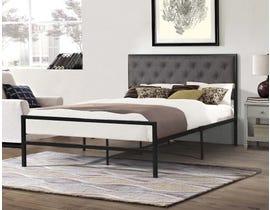 Titus Furniture Metal Frame Bed in Grey/Black T2208G