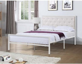 Titus Furniture Metal Frame Bed in White T2208W