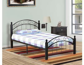 Titus Furniture Metal Frame Full Bed in Espresso T2320E-D