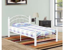 Titus Furniture Metal Frame Twin Bed in White T2320W-S