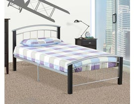Titus Furniture Metal Frame Bed in Pewter/Black T2330