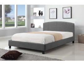 Titus Furniture Upholstered Platform Bed in Grey T2355G