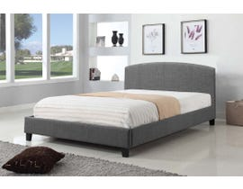 Titus Furniture Upholstered Platform Queen Bed in Grey T2355G-Q