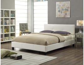 Titus Furniture Upholstered Platform King Bed in White T2358W-K
