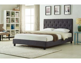 Titus Furniture Upholstered Platform Queen Bed in Charcoal T2366C-Q