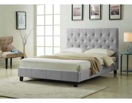 Titus Furniture Upholstered Platform Full Bed in Grey T2366G-D