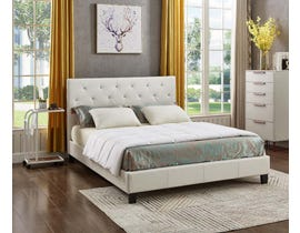 Titus Furniture Upholstered Platform Bed in White T2366W