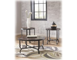 Signature Design by Ashley Ferlin Series 3 piece Occasional Table Set in dark brown T238-13