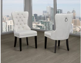 Titus Furniture Dining Chair (Set of 2) in Cream Velvet T246C