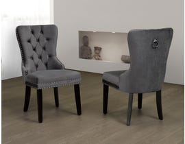 Titus Furniture Dining Chair (Set of 2) in Grey Velvet T246G