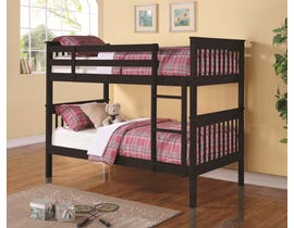 Titus Furniture Twin over Twin Bunk Bed in Espresso T2500E